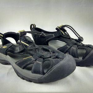 Womens Keen Black Waterproof Water Shoes 7.5